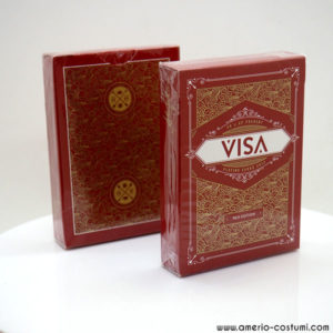 Red Visa Playing Cards - LASSONELLAMANICA.COM - Vendita Mazzi di Carte, Giochi di Prestigio, Libri e Dvd di Magia. Recensioni, unboxing, tutorial!