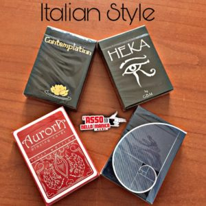 Italian Style Deck - Quattro bellissimi mazzi di carte MADE IN ITALY! Contempation Gold by Jack Nobile, Aureas by Hyde, Heka by G.B.M., Aurora by Parabiaghi