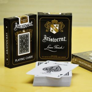 Aristocrat Black Playing Cards - LASSONELLAMANICA.COM - Mazzi di Carte, Giochi di Prestigio, Libri e Dvd di Magia. Recensioni, unboxing, tutorial!