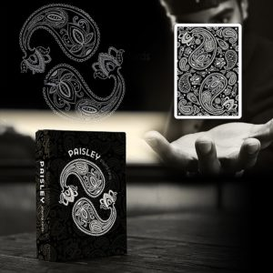Paisley Playing Cards Black - LASSONELLAMANICA.COM - Mazzi di Carte, Giochi di Prestigio, Libri e Dvd di Magia. Recensioni, unboxing, tutorial!